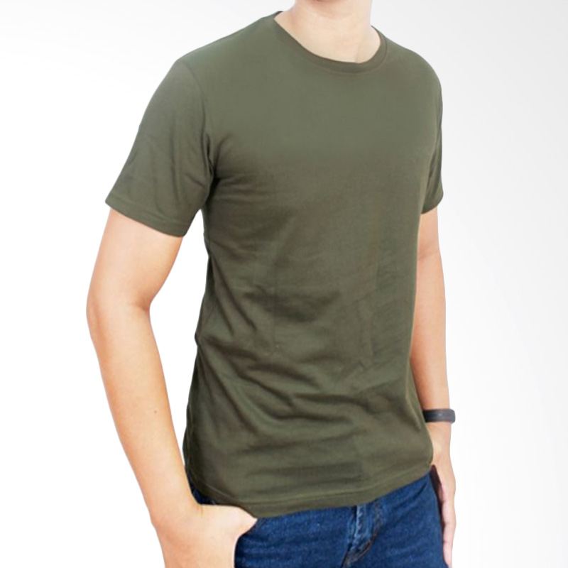 Gudang Fashion Kaos Polos POL 07 O-neck Pendek Cotton Combed 20S Hijau Army T-shirt Extra diskon 7% setiap hari Extra diskon 5% setiap hari Citibank – lebih hemat 10%