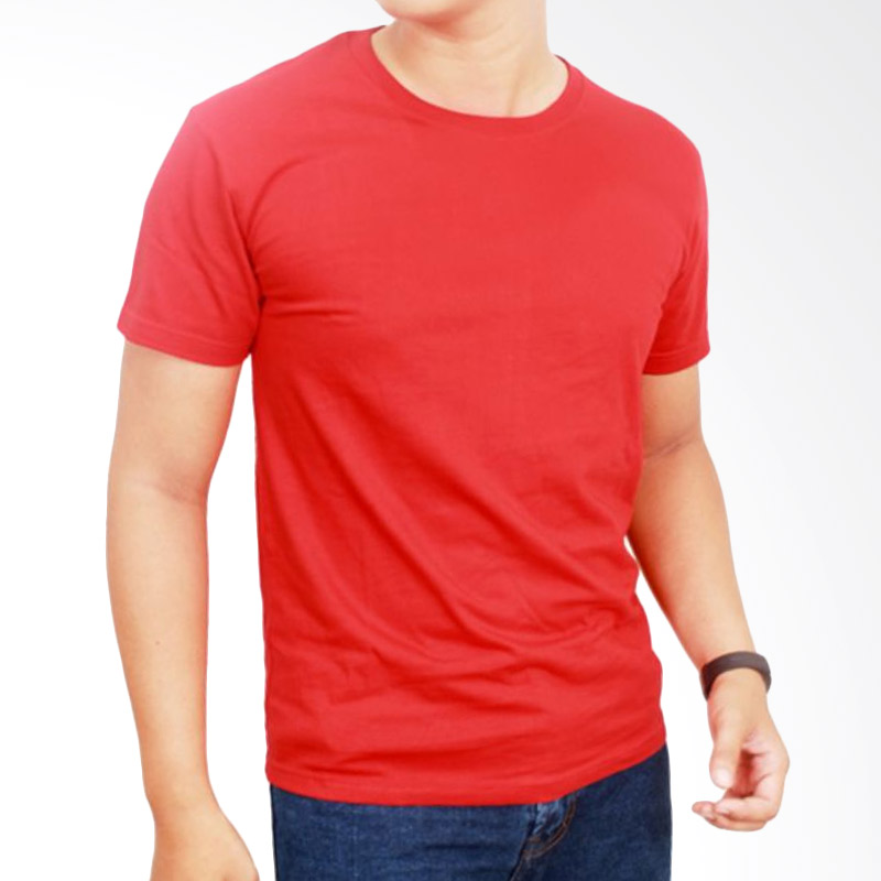 Gudang Fashion Kaos Polos POL 04 O-neck Pendek Cotton combed 20S Merah T-shirt Extra diskon 7% setiap hari Extra diskon 5% setiap hari Citibank – lebih hemat 10%