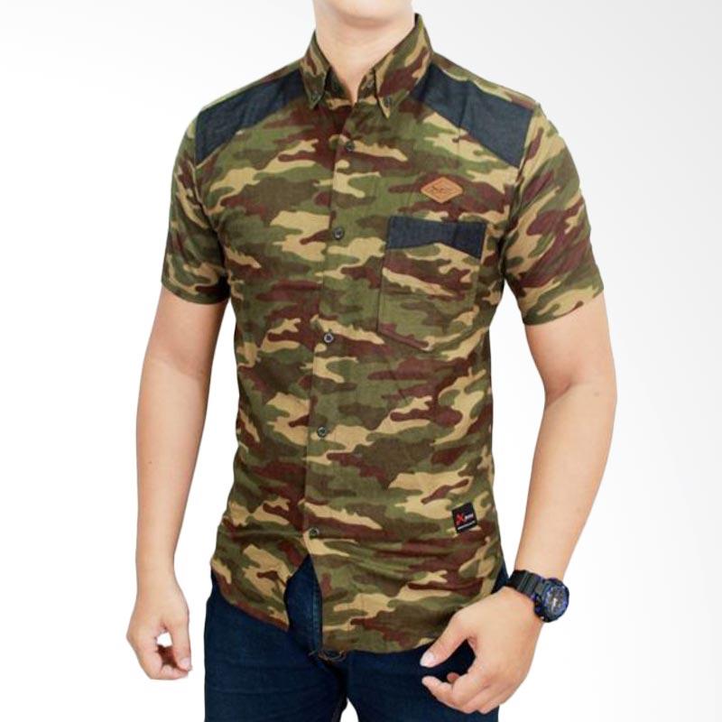 harga Gudang Fashion Tentara Loreng SHT 624 Green Kemeja Pria Blibli.com