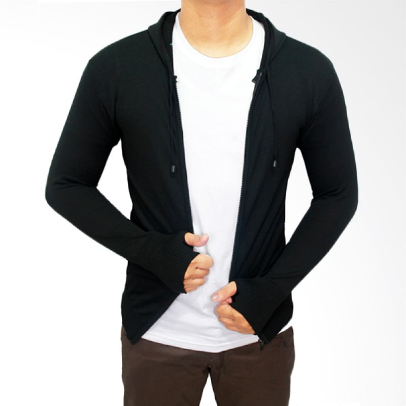 Gudang Fashion Knit Hoodie Ariel Rajut Hitam Sweater