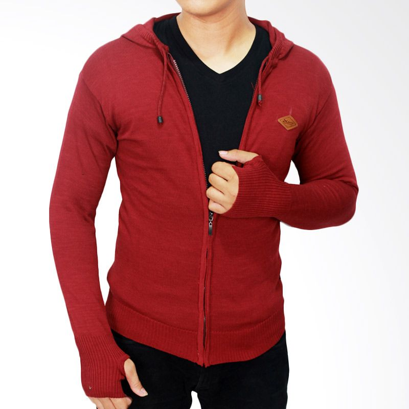 Gudang Fashion Knitted Rajut SWE 573 Merah Sweater Pria