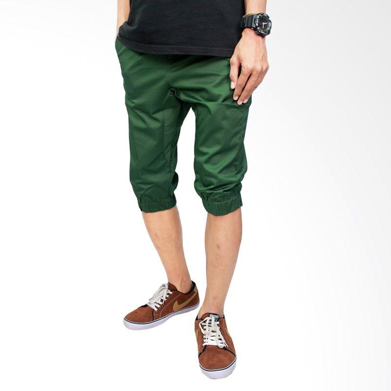 Gudang Fashion Stretch CLN 662 Hijau Celana Jogger Pria