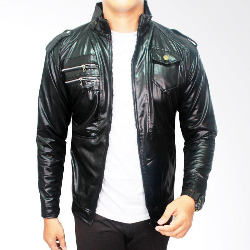 Gudang Fashion Casual Metalic Hitam Jaket Pria