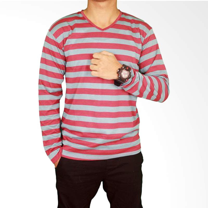 Gudang Fashion Men'S T-Shirts PAN 788 Long Sleeve Salur - Grey Extra diskon 7% setiap hari Extra diskon 5% setiap hari Citibank – lebih hemat 10%