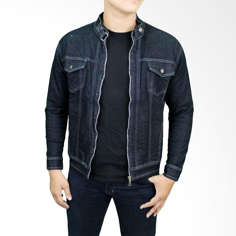 Gudang Fashion JAK 2136 Jaket Pria Jeans Fleace - Navy