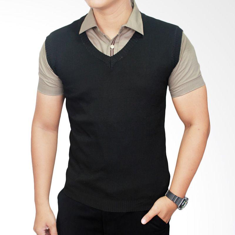 Jual Gudang Fashion Rom 310 Vest For Mens Suit Rajut Hitam
