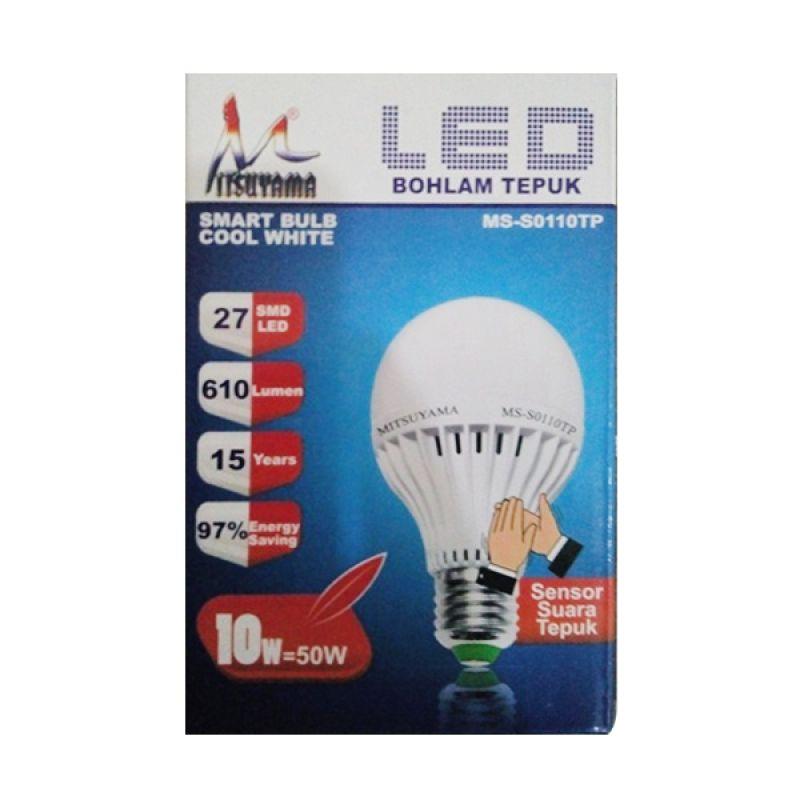 Mitsuyama Lampu Tepuk Putih Lampu LED [10 Watt]