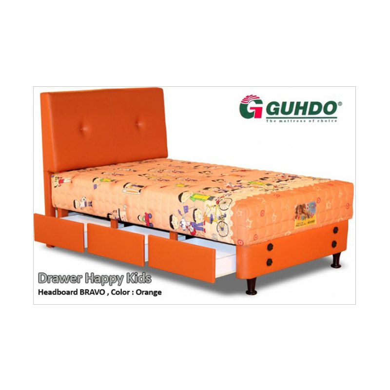 Guhdo Kasur Springbed Drawer Happy Kids 2013 [Full Set Bravo/90x200 cm/Khusus Jabodetabek]