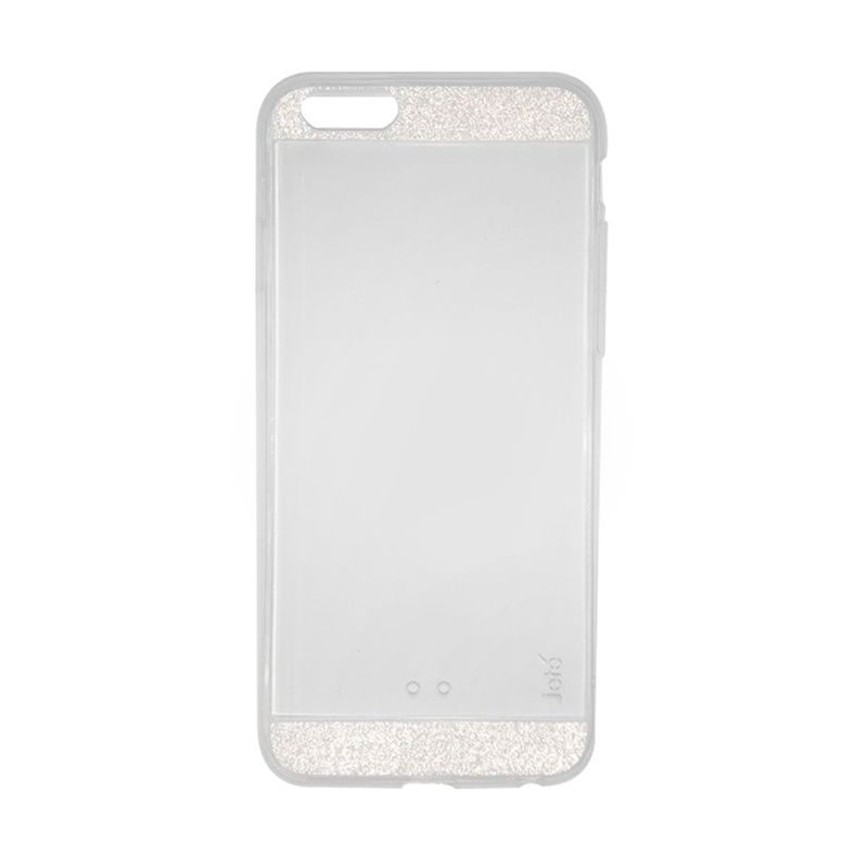 Jete Silicon Gliter White Casing for iPhone 6