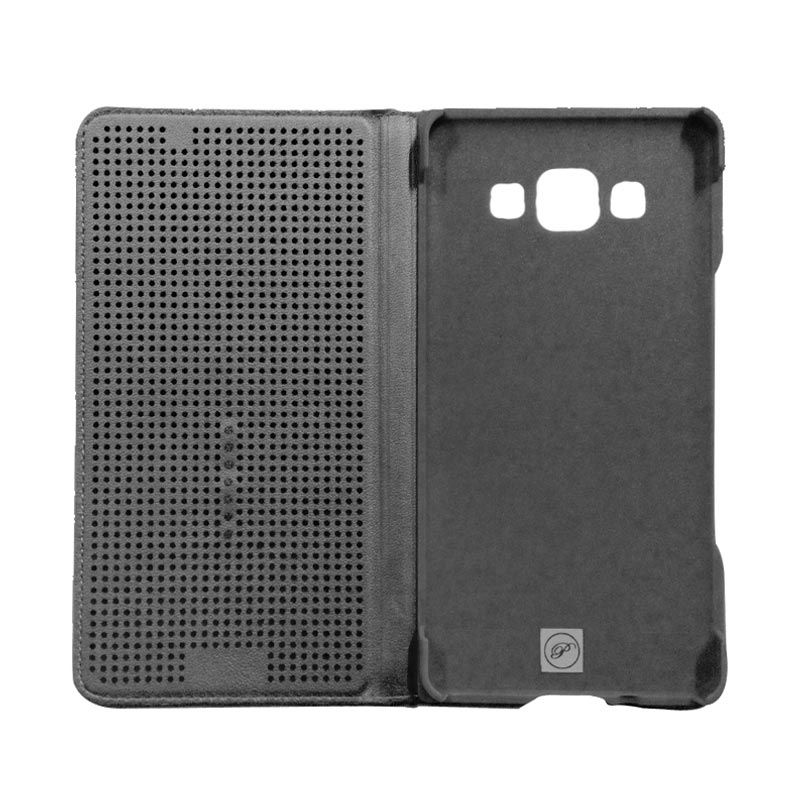 Smart Touch Black Flip Cover Casing for Samsung Galaxy E5