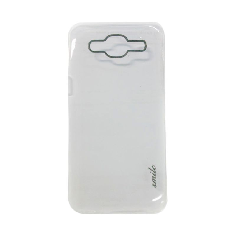 Smile Silicon White Casing for Samsung Galaxy J5