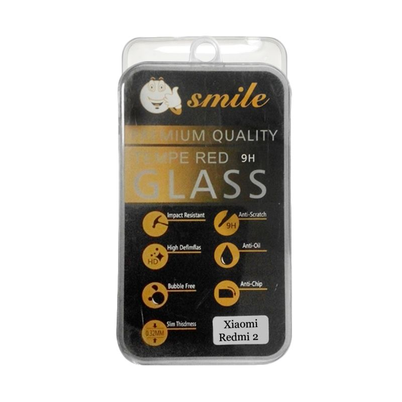 Smile Tempered Glass Screen Protector for Xiaomi Redmi 2