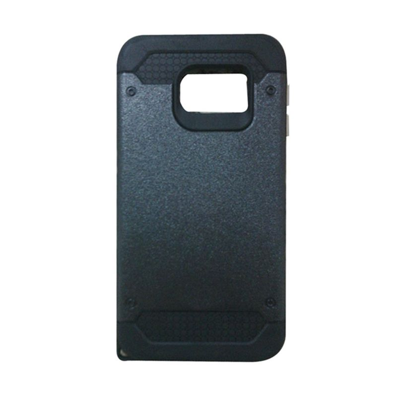 Super Cool Hybrid Hitam Casing for Samsung Galaxy S6 Edge