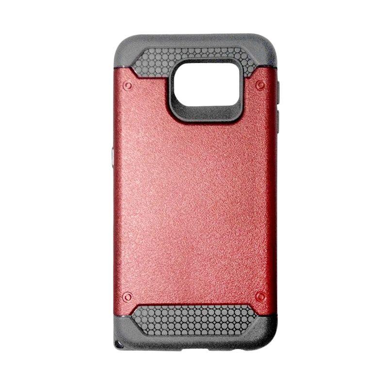 Super Cool Hybrid Merah Casing for Samsung Galaxy S6 Edge