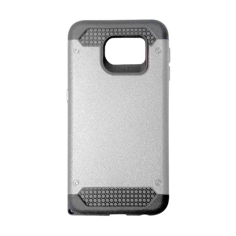 Super Cool Hybrid Silver Casing for Samsung Galaxy S6 Edge