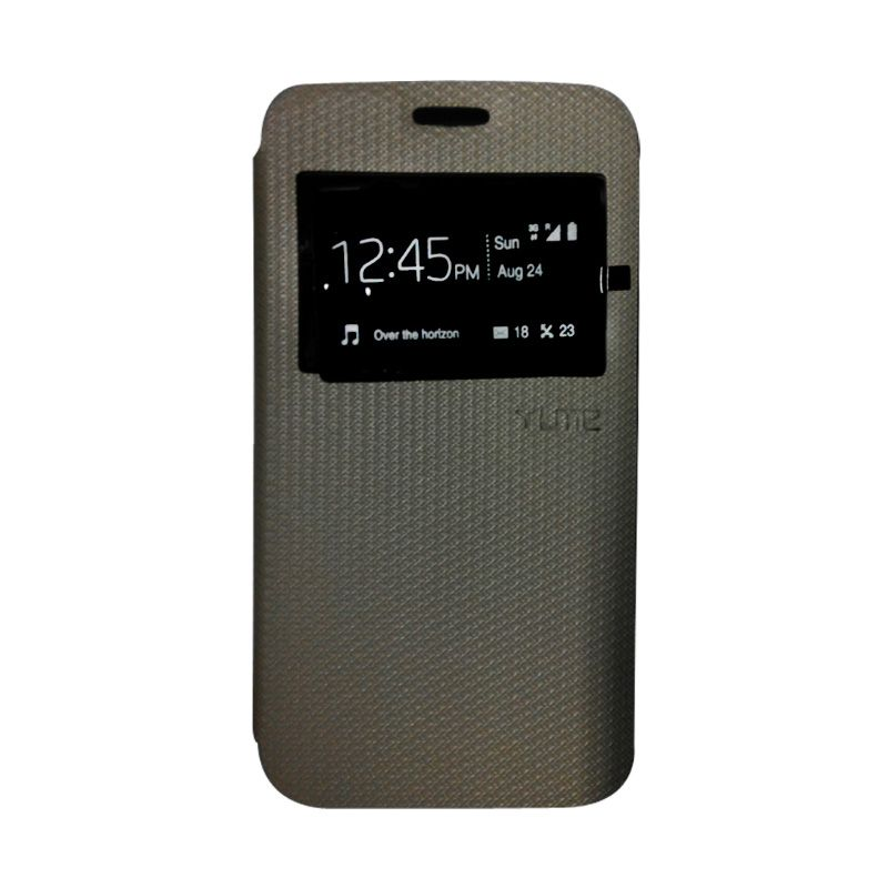 Ume Leather Hitam Flip Cover Casing for Galaxy E7