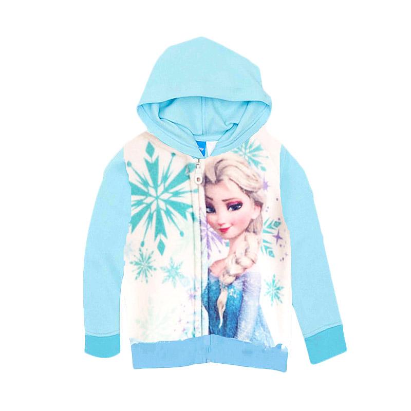 harga H&M Character Frozen Elsa Hoodie Jacket Anak Perempuan - Blue Blibli.com