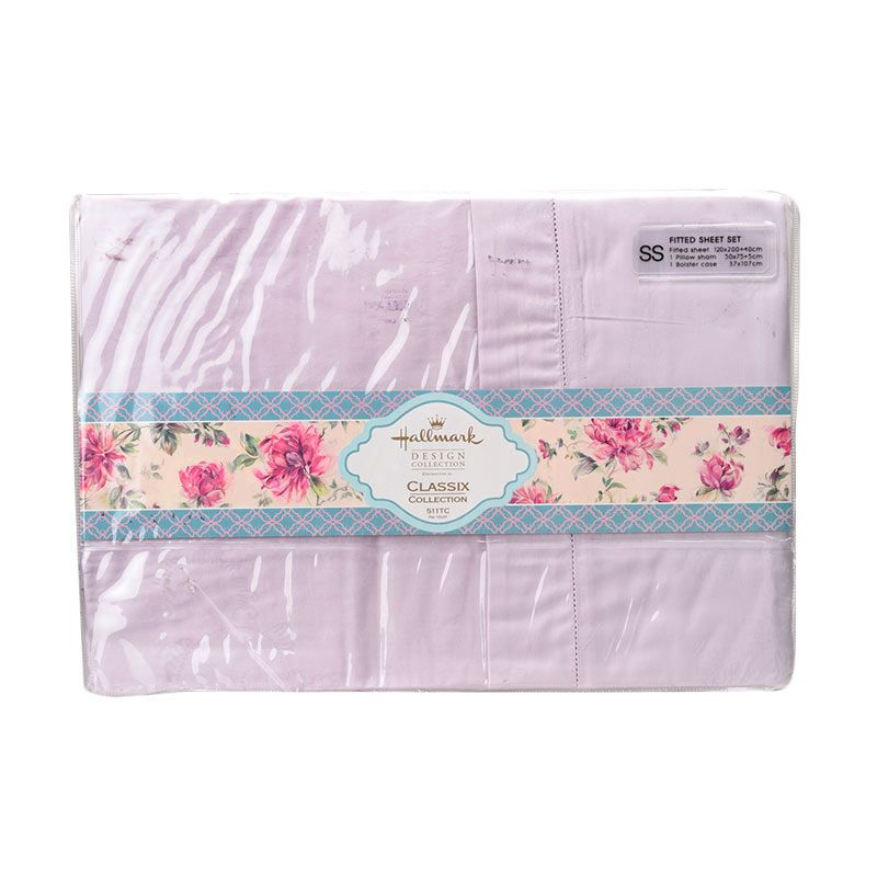 Hallmark HM Classix Fitted Sheet Set HLK44325T Single Plus Sprei