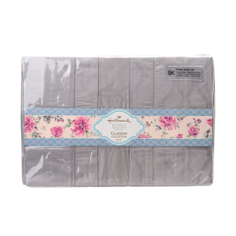 Hallmark HM Classix Fitted Sheet Set HLK44326N Super King Plus Sprei