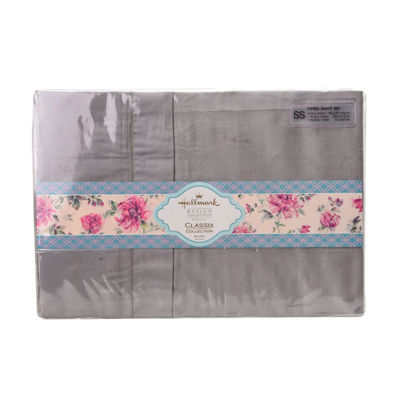 Hallmark HM Classix Fitted Sheet Set HLK44326T Single Plus Sprei