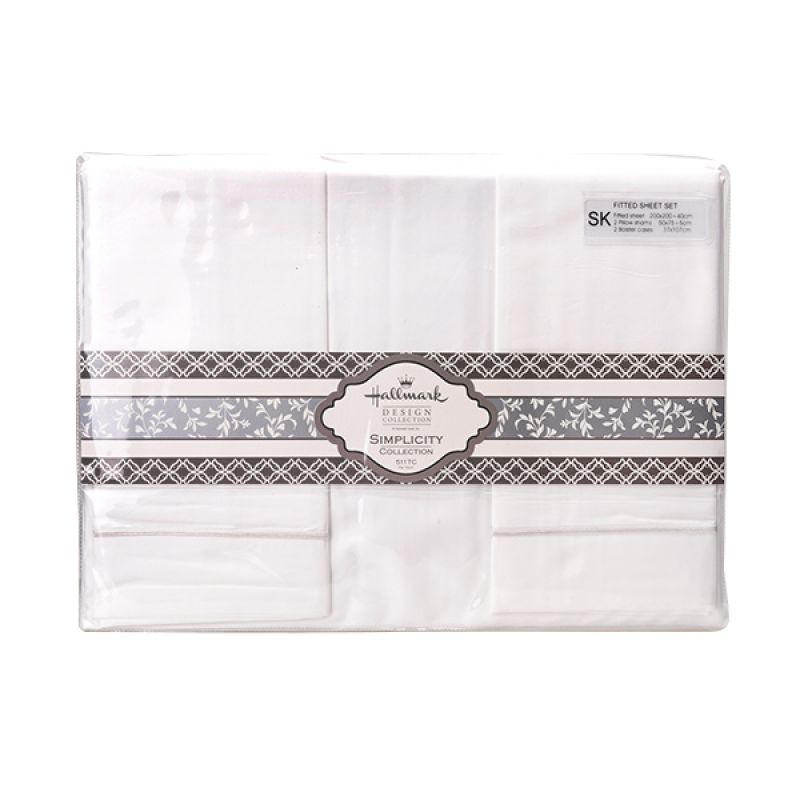 Hallmark HM HXP Fitted Sheet Set HLS44321N Super King Plus Sprei