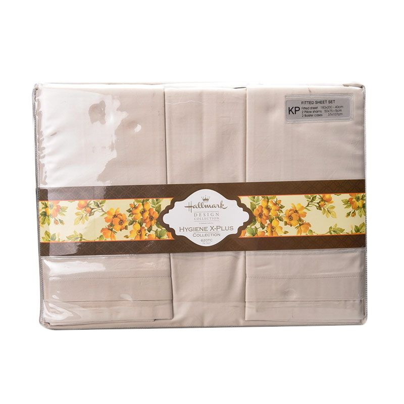 Hallmark HM HXP Fitted Sheet Set HLS44322N Super King Plus Sprei