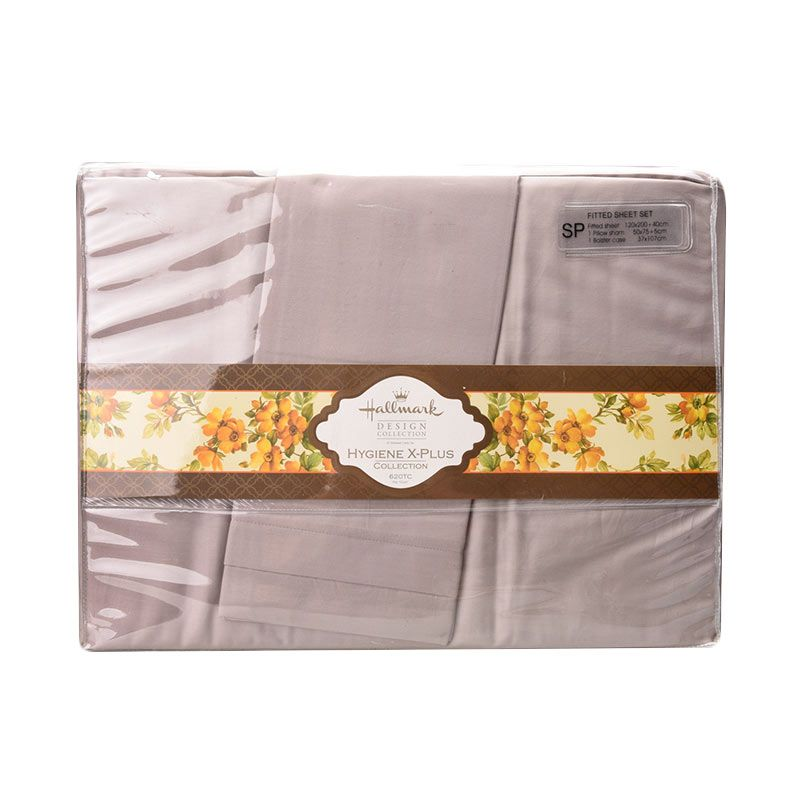 Hallmark HM HXP Fitted Sheet Set HLS44323T Sprei [Single Plus]