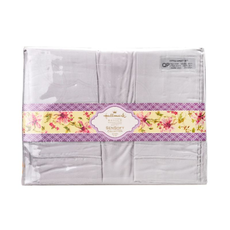 Hallmark HM Promodal Jacq Fitted Sheet Set HLS44318P Queen Plus Sprei