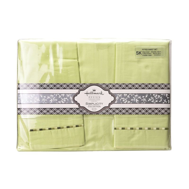 Hallmark HM Simplicity Fitted Sheet Set HLS43330N Super King Plus Sprei