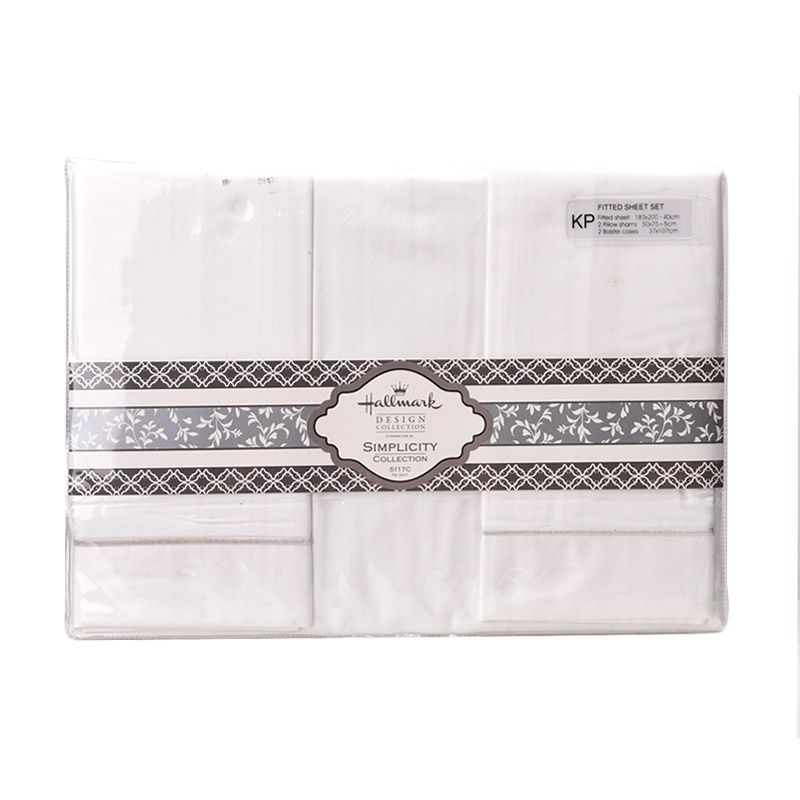 Hallmark HM Simplicity HLS43327M Fitted Sheet Set Sprei [King Plus]