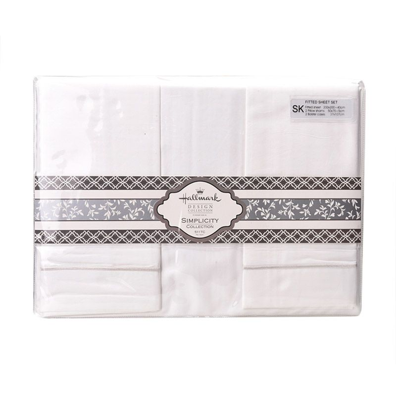 Hallmark HM Simplicity HLS43327N Fitted Sheet Set Sprei [Super King Plus]