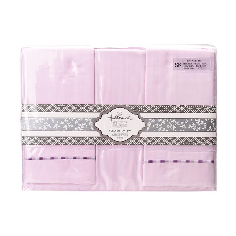 Hallmark HM Simplicity HLS43328N Fitted Sheet Set Sprei [Super King Plus]