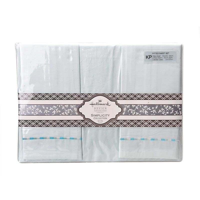 Hallmark HM Simplicity HLS43329M Fitted Sheet Set Sprei [King Plus]
