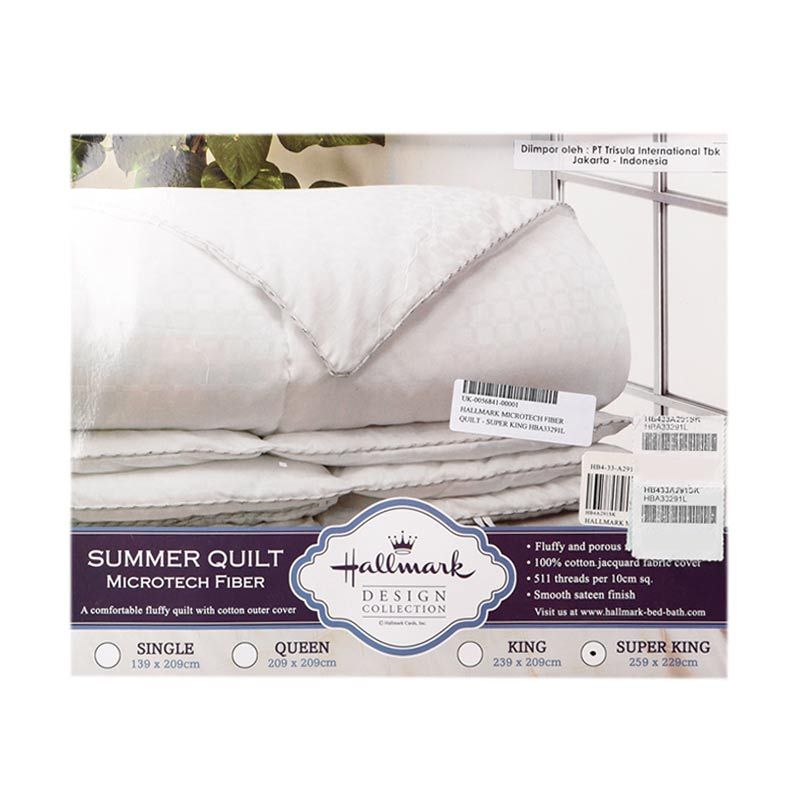 Hallmark Microtech Fiber Quilt HBA33291L Super King Selimut