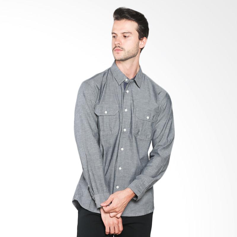 Hammer E1SS184A02 Shirt Solid - Dark Grey