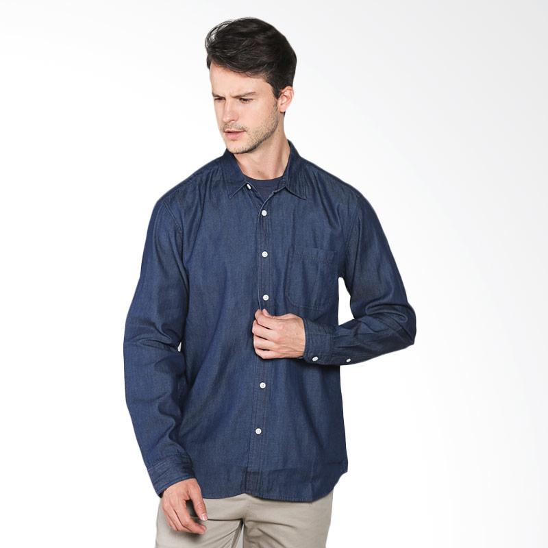 Hammer Shirt Solid G1SS187N01 Kemeja Pria - Medium Denim