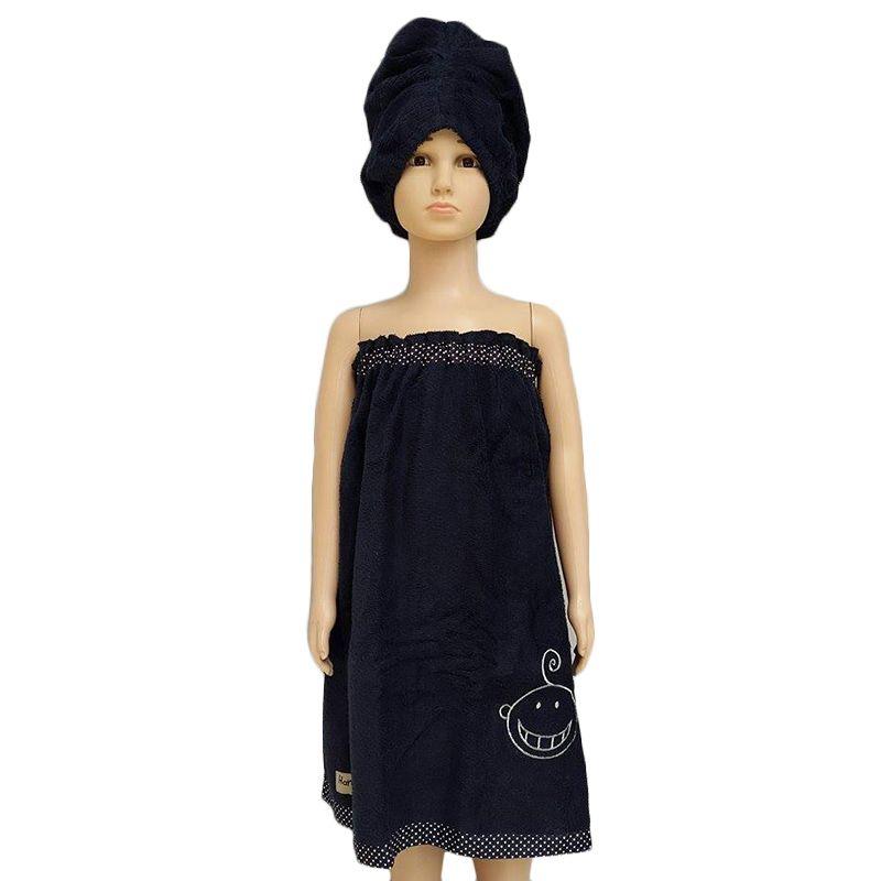 Hanaroo Kemben Dark Blue Towel Handuk + Turban [Size M]