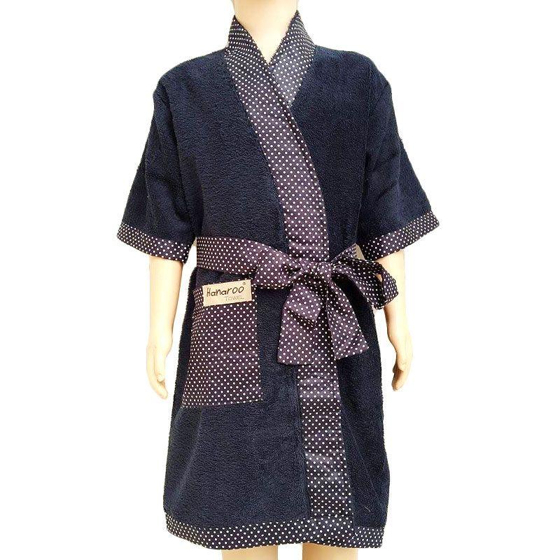 Hanaroo Kimono Dark Blue Handuk [Size M]