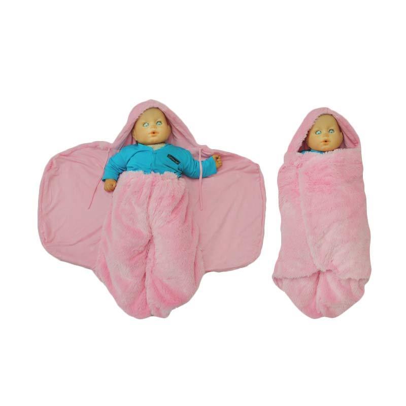 Hanaroo Fluffy Blanket Baby Pink