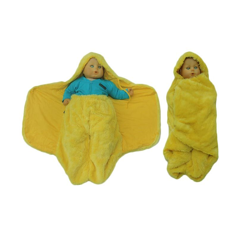 Hanaroo Fluffy Blanket Yellow