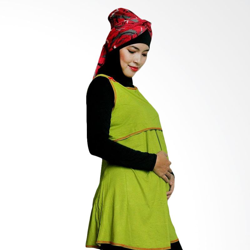 Hanaroo Maternity & Nursing Wear Button Avocado