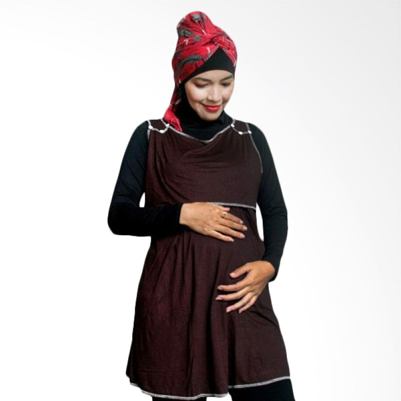 Hanaroo Maternity & Nursing Wear Button Brown
