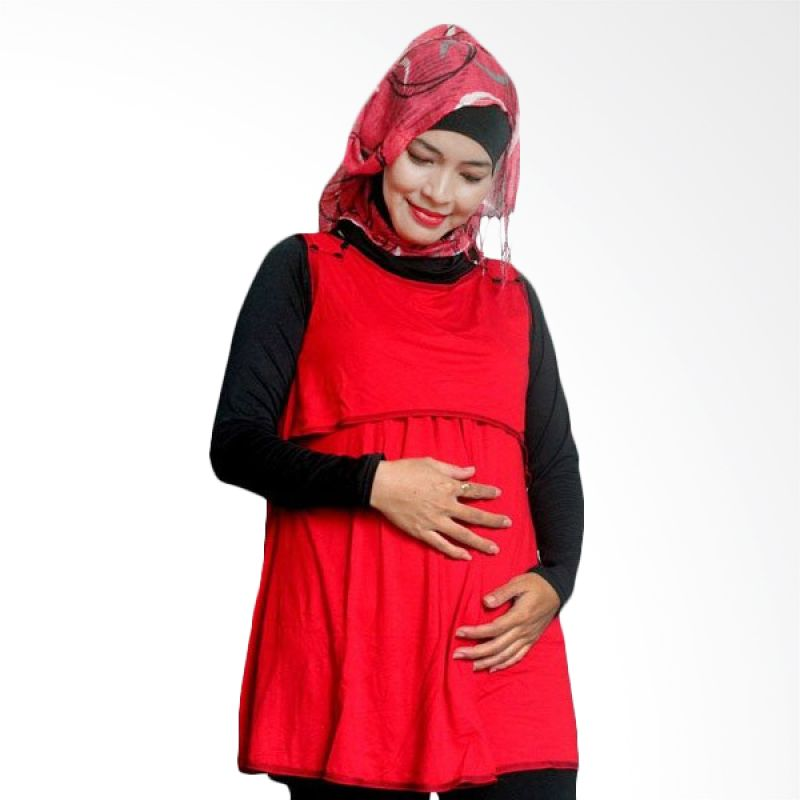 Hanaroo Maternity & Nursing Wear Button Red