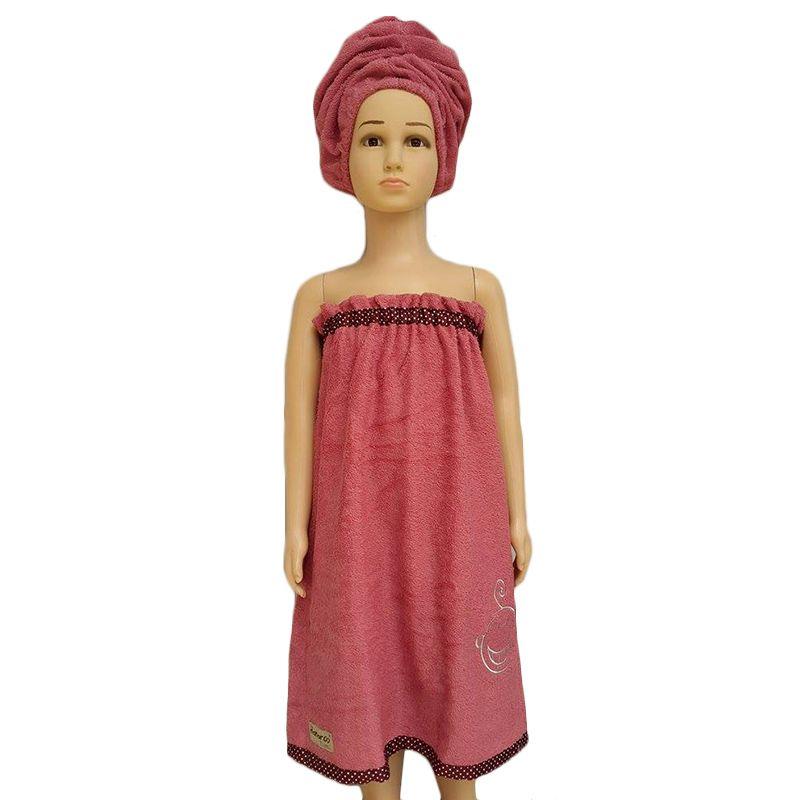 Hanaroo Kemben Pink Handuk + Turban [Size S]