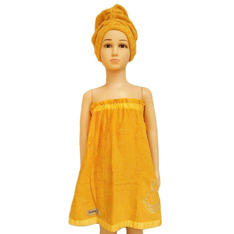 Hanaroo Kemben Yellow Towel Handuk + Turban [Size M]