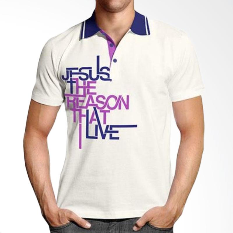 Handesign Collar Tshirt Unisex SCREASON Atasan Pria - Off White