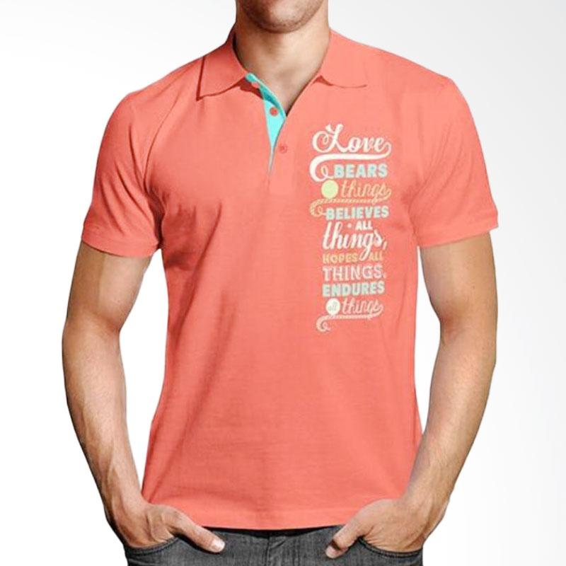 Handesign Collar Tshirt Unisex SCTHING Atasan Pria - Peach Extra diskon 7% setiap hari Extra diskon 5% setiap hari