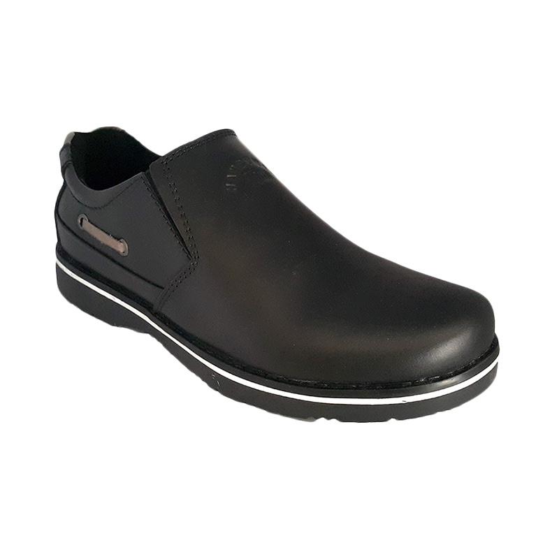Handymen CHS 11 Formal Loafer Genuine Leather Sepatu Pria - Black