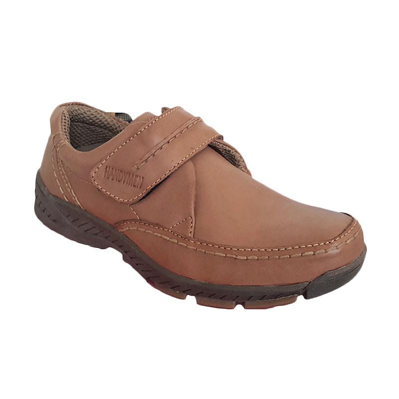 Handymen HK 02 Brown Camel Casual Formal Sepatu Pria