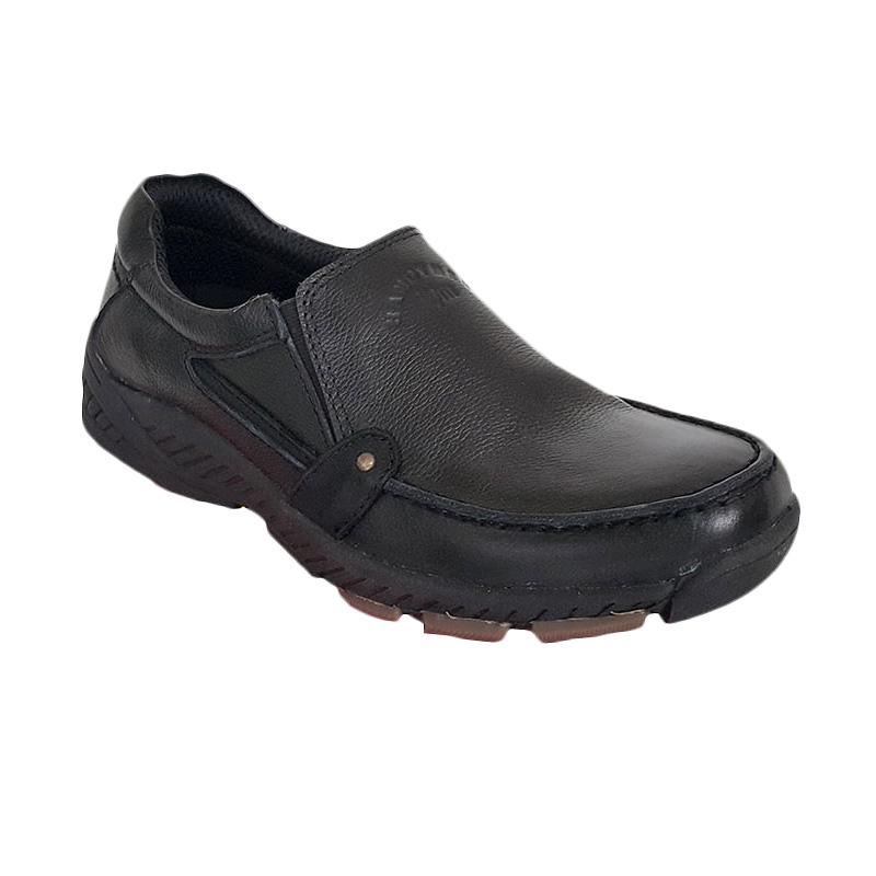Handymen HK 039 Slip on Casual Formal Genuine Leather Sepatu Pria - Black